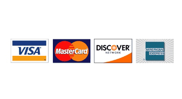 credit cards accepted with online services